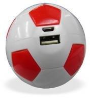Carregador Portatil para Celular Power Bank Bola de Futebol para Emergencia Vermelho (18000mAh) - Chang Hong