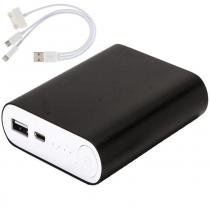 Carregador portátil power bank wmte35 de metal preto 6000mah - Wmt