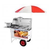 Carrinho Ambulante 3 em 1 Hot Dog, Lanche e Salgado Armon -