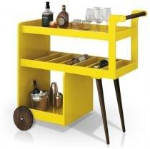 Carrinho Bar Baden Amarelo - Edn móveis
