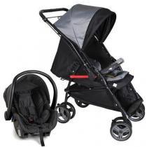 Carrinho Bebê Reversível Maranello II Preto + Bebê Conforto - Galzerano -