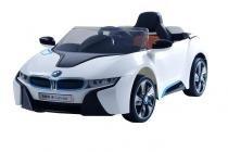 Carrinho Bmw I8 Concept Elétrico Infantil Crianças Com Controle Remoto Mp3 Branco Belfix -