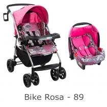 Carrinho burigotto at6 k + bb conforto bike rosa - Burigotto