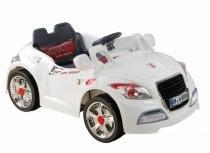 Carrinho Carro Elétrico Esporte 6v Branco Crianças Belfix -