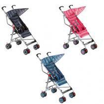 Carrinho de Bebê, 2 Posições, 4 rodas duplas -  Umbrella Slim - Preto - Voyage