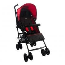 Carrinho de Bebê Alumínio Sprinter 4 Posições Preto e Vermelho Burigotto -