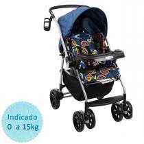 Carrinho de Bebê Burigotto AT6 K - Bike Azul -