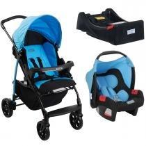Carrinho de Bebê Burigotto Ecco e Bebê Conforto com Base - Iris - Burigotto