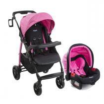 Carrinho de Bebê Burigotto Módulo e Bebê Conforto - Azaleia -