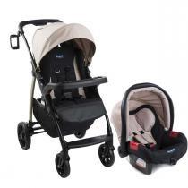 Carrinho de Bebê Burigotto Módulo e Bebê Conforto - Capuccino - Neutra - Burigotto