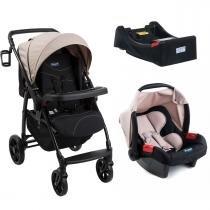 Carrinho de Bebê Burigotto Primus K e Bebê Conforto com Base - Capuccino - Burigotto