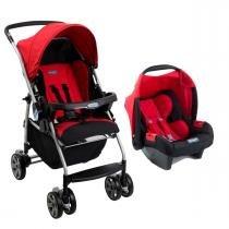 Carrinho de Bebê Burigotto Rio K e Bebê Conforto - Red - Burigotto