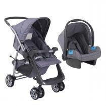 Carrinho de Bebê Burigotto Rio Plus Reversível e Bebê Conforto - New Silver Rosa - Burigotto
