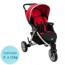 Carrinho de Bebê Burigotto W3 - Red Black - Burigotto