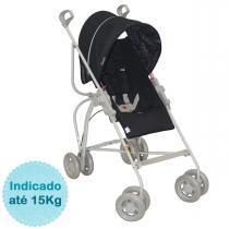 Carrinho de Bebê Campora da Galzerano - Preto -