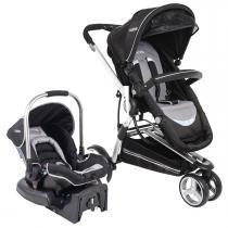 Carrinho de Bebê com Bebê Conforto Kiddo Compass II Caracol com Base - Preto - Kiddo