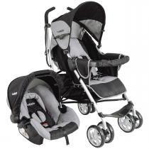 Carrinho de Bebê com Bebê Conforto Kiddo Cross Cozycot - Cinza - Kiddo