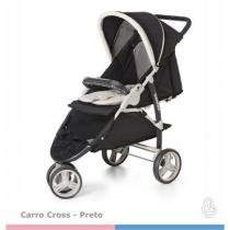 Carrinho de Bebe CROSS Preto Galzerano 1430PT -
