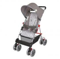 Carrinho de Bebê Damiano 03400.37 Cinza Estrela - Tutti Baby - Tutti Baby