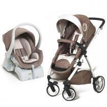 Carrinho de Bebê Dzieco Maly e Bebê Conforto Cocoon - Capuccino - Dzieco
