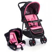 Carrinho de Bebê e Bebê Conforto Cosco Nexus - Rosa -