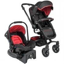 Carrinho de Bebê e Bebê Conforto Kiddo Spin 360 Caracol com Base - Vermelho -