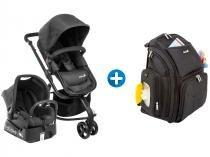 Carrinho de Bebê e Bebê Conforto Safety 1st - Mobi Reclinável + Bolsa de Bebê com Trocador