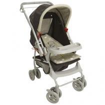 Carrinho de Bebê e Berço Passeio Galzerano Milano Reversível Reclinável com 4 Posições