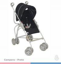 Carrinho de Bebe Galzerano Campora Preto 1005PT -