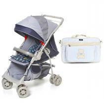 Carrinho de Bebê Galzerano Maranello e Bolsa Hug G - Azul - Neutra - Galzerano