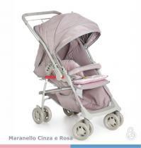 Carrinho de Bebê Galzerano Maranello II - cinza rosa - Galzerano