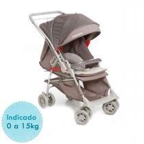 Carrinho de Bebê Galzerano Maranello II e Bebê Conforto Cocoon - Cappucino - Galzerano