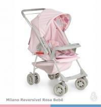 Carrinho de Bebê Galzerano Milano Reversível II - rosa - Galzerano