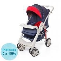Carrinho de Bebê Galzerano Optimus e Bebê Conforto Cocoon com Base - Jeans -