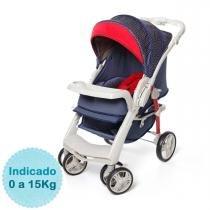 Carrinho de Bebê Galzerano Optimus e Bebê Conforto Cocoon com Base - Jeans - Galzerano