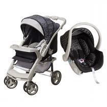 Carrinho de Bebê Galzerano Optimus e Bebê Conforto Cocoon - Preto Cinza - Galzerano