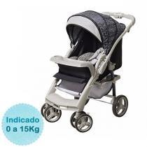 Carrinho de Bebê Galzerano Optimus - Preto Cinza -