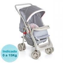 Carrinho de Bebê - Galzerano - Pegasus - Cinza Rosa - Galzerano