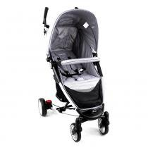 Carrinho de Bebê Helios Alumínio Lenox Multi Posições Cinza -