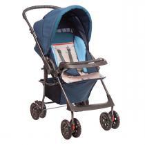 Carrinho de Bebê Hercules Topázio - Náutico - Cinza/Azul - Hercules