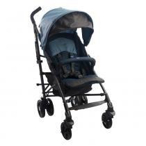 Carrinho de Bebê Lite Way Basic 2 Azul Com 5 Posições e Barra de Proteção - Chicco