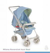 Carrinho de bebê Milano Reversível II Azul Real - Galzerano