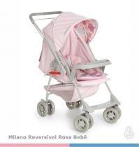 Carrinho de bebê Milano Reversível II Rosa Bebê - Galzerano