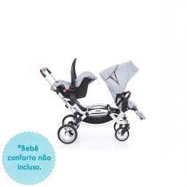 Carrinho de Bebê para Gêmeos ABC Design Zoom -  Graphite Grey -