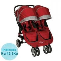 Carrinho de Bebê para Gêmeos Baby Jogger City Mini Double - Crimson/Gray - Baby Jogger
