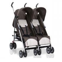 Carrinho de Bebê para Gêmeos Burigotto Duetto - Brown -