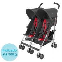 Carrinho de Bebê para Gêmeos Twin Triumph Maclaren - Charcoal/Cardinal - MacLaren