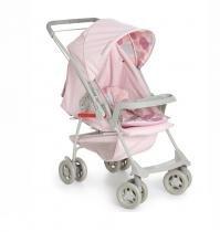 Carrinho De Bebê Para Passeio 2 em 1 Berço Galzerano Milano Reversível - Rosa -