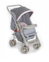 Carrinho De Bebê Para Passeio Galzerano Pegasus Pink - Cinza - Galzerano