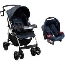 Carrinho de Bebê Passeio Burigotto Travel System - AT6 K Reclinável 4 posições com Bebê Conforto